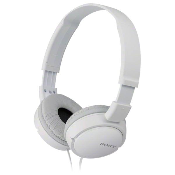 Casti SONY MDR-ZX110APW, Cu Fir, On-Ear, Microfon, alb