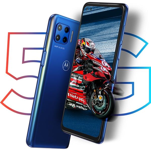 Telefon MOTOROLA Moto G 5G Plus, 128GB, 6GB RAM, Dual SIM, Surfing Blue
