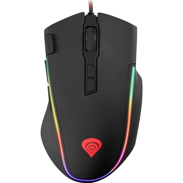 Mouse Gaming NATEC Genesis Krypton 700, 7200 dpi, negru