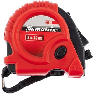 Ruleta MTX Matrix 310039, 3 m x 16 mm, corp cauciucat, rosu-negru