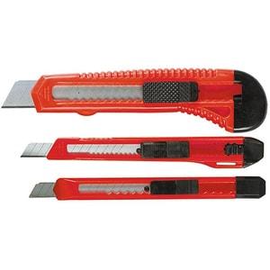 Set 3 cuttere MTX Matrix 789859, 9-9-18 mm, metal, rosu-negru