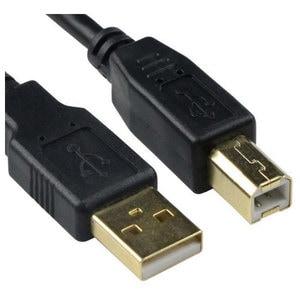 Cablu USB A - USB B MYRIA MY8738, 1.8m, placat cu aur, negru