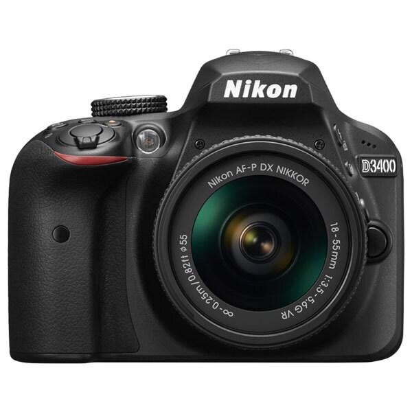 Aparat foto DSLR NIKON D3400 + obiectiv AF-P 18-55mm VR , 24.2 Mp, 3 inch, negru