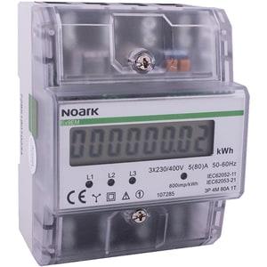 Contor trifazat NOARK 107285, 80A, 400V, IP50, transparent