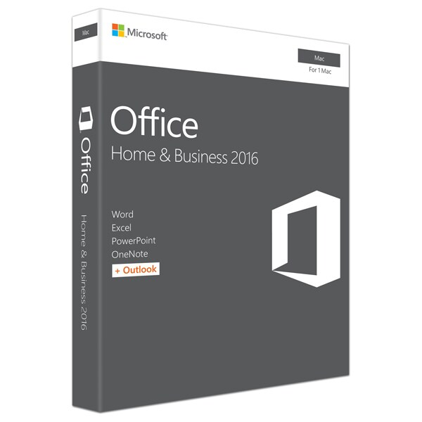 Microsoft Office Mac Home and Business 2016, Engleza EuroZone, Medialess P2