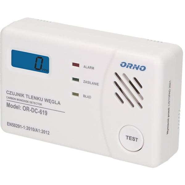 Detector monoxid de carbon ORNO OR-DC-619, 85dB, alb