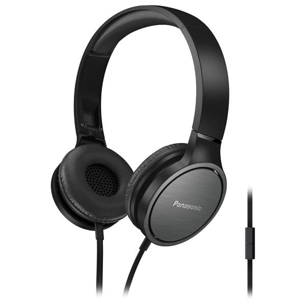 Casti PANASONIC RP-HF500ME-K, Cu Fir, On-Ear, Microfon, negru