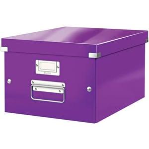 Cutie organizare LEITZ Click & Store, 281 x 200 x 370 mm, carton, mov