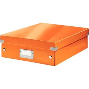 Cutie organizare LEITZ Click & Store Organizer, 281 x 100 x 370 mm, carton, portocaliu