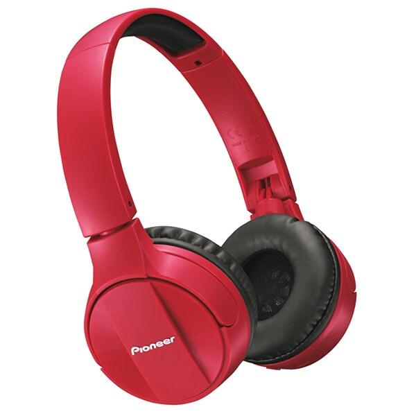 Casti PIONEER SE-MJ553BT-R, Bluetooth, On-Ear, Microfon, rosu