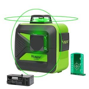 Nivela cu laser HUEPAR 602CG, auto-nivelabila, raza 20m, negru-verde