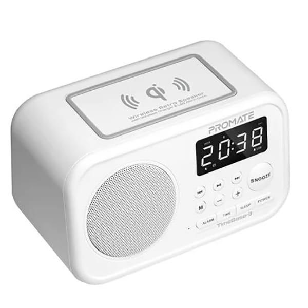 Radio cu ceas PROMATE Timebase-3, Bluetooth, alb