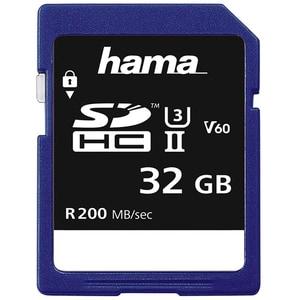 Card de memorie HAMA 124132, SDHC, 32GB, 200MB/s, clasa 3 UHS-II V60