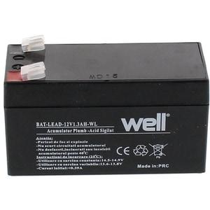 Acumulator plumb acid  WELL BAT-LEAD-12V1.3AH-WL, 12V, 1.3 Ah