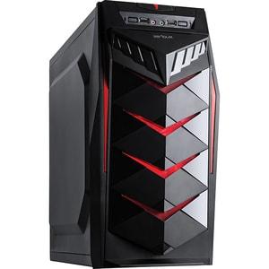 Carcasa SERIOUX Mustang, USB 3.0, 450W, negru-rosu