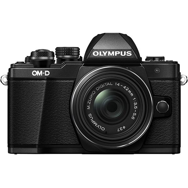 Aparat foto Mirrorless OLYMPUS E-M10 MARK II 1442, 16 MP, Wi-Fi, negru + Obiectiv 14-42mm