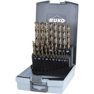 Set burghie HSS-CO5 RUKO 215214RO, 1-10 mm, 19 piese
