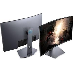 "Monitor LED VA DELL S3220DGF, 32"", QHD, 165Hz, FreeSync, negru-argintiu"