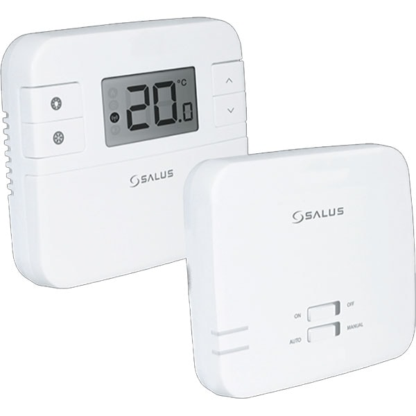 Termostat neprgramabil wireless pentru centrala SALUS RT310RF, alb