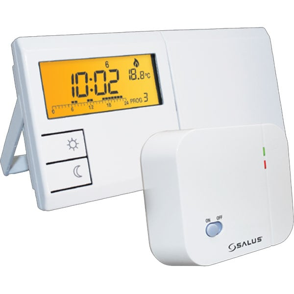 Termostat prgramabil wireless pentru centrala SALUS 091FLRF, alb
