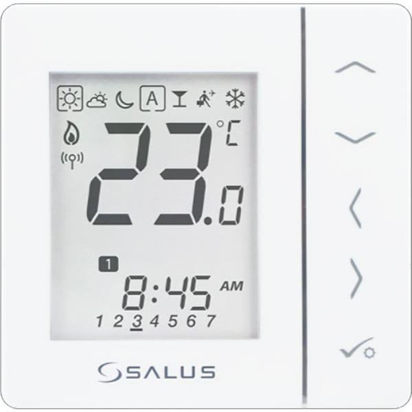 Termostat programabil wireless incalzire pardoseala SALUS VS20WRF, alb