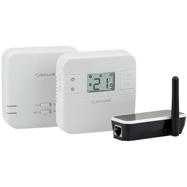 Termostat programabil wireless pentru centrala SALUS RT310i, alb