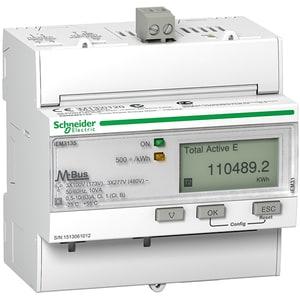 Contor trifazat SCHNEIDER A9MEM3135, 63A, 480V, IP20, alb