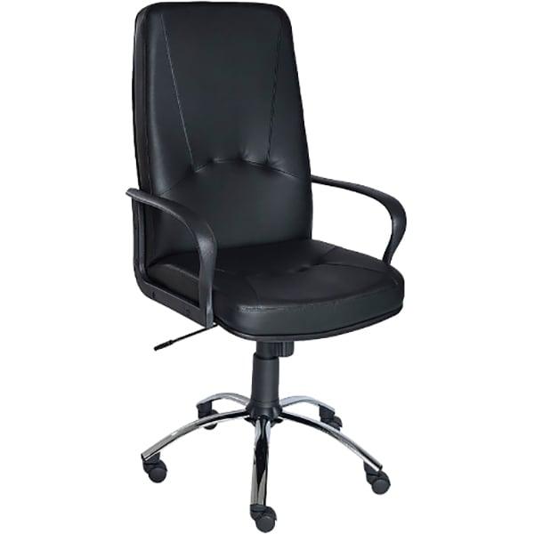 Scaun birou directorial ERGO D, piele ecologica, negru