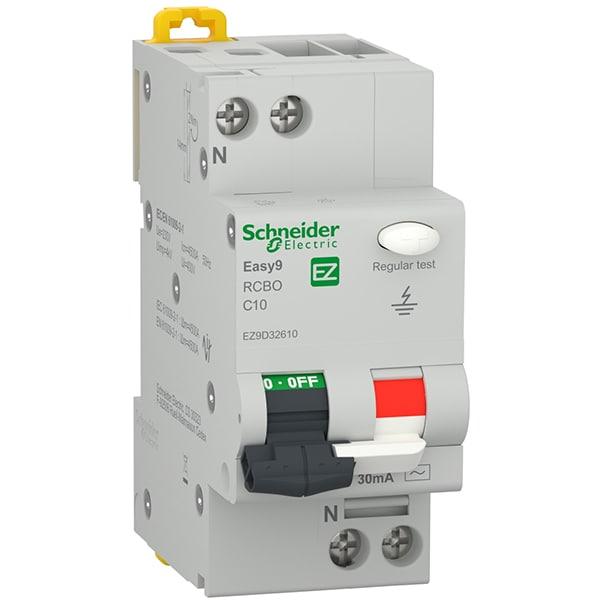 Siguranta automata diferentiala SCHNEIDER EZ9D32610, 1P + ND, 10A, curba C
