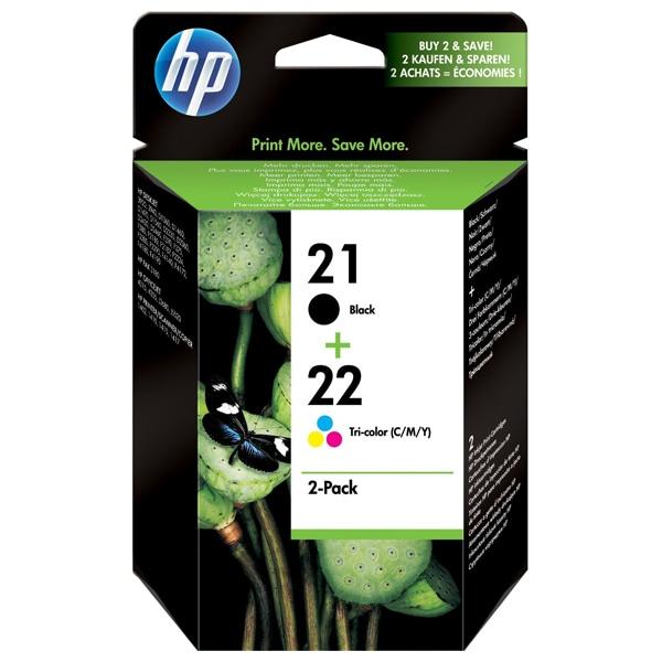 Pachet cu 2 cartuse originale HP 21/22 (SD367AE), negru/tricolor