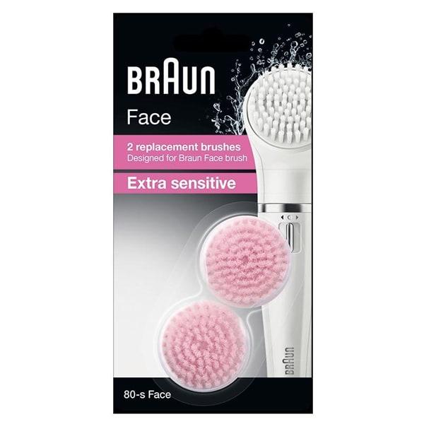 Rezerva perie faciala BRAUN Face Extra sensitive SE80-S, 2 bucati