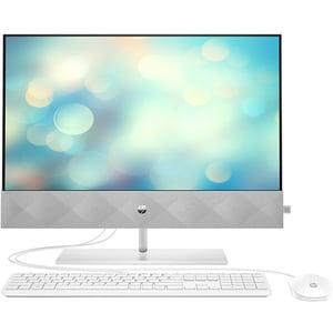 "Sistem PC All in One HP Pavilion 27-d0001nq, Intel Core i5-10400T pana la 3.6GHz, 27"" Full HD Touch, 8GB, SSD 256GB, Intel UHD Graphics 630, Free DOS, alb"