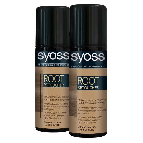 Pachet promo, Vopsea de par SYOSS Root Retoucher, Dark Blond, 2 x 120ml