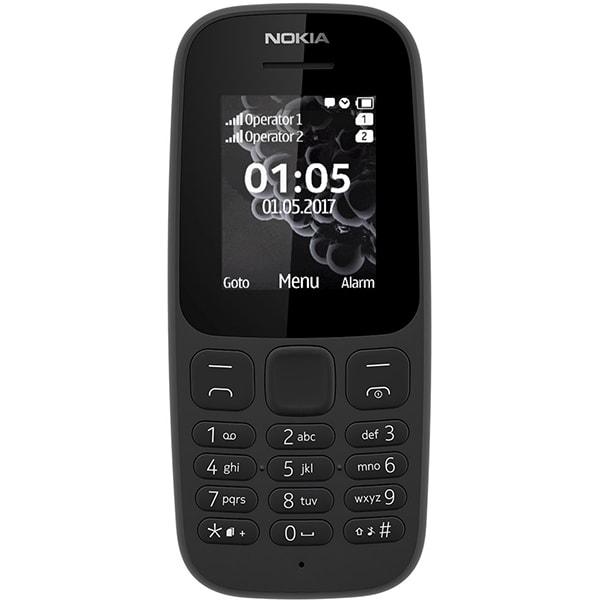 Telefon NOKIA 105 2017, 4MB RAM, 2G, Dual SIM, Black