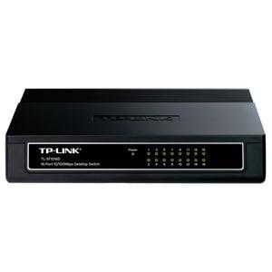 Switch TP-LINK TL-SF1016D, 16 porturi Fast Ethernet, negru