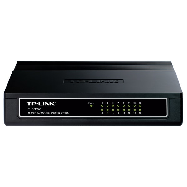 Switch TP-LINK TL-SF1016D, 16 porturi Fast Ethernet, negru
