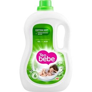 Detergent lichid TEO BEBE Cotton Soft Aloe, 2.2l, 40 spalari