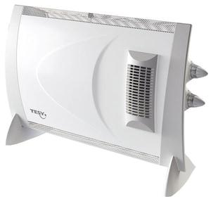 Convector electric de podea TESY CN 202 ZF, 4 trepte putere, 2000W, Regulator temperatura, alb