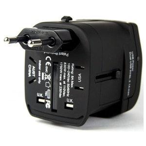 Adaptor priza PROMATE uniPro.4, universal, negru