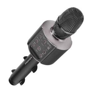 Microfon Karaoke PROMATE VocalMic-4, Bluetooth, Boxa portabila, negru