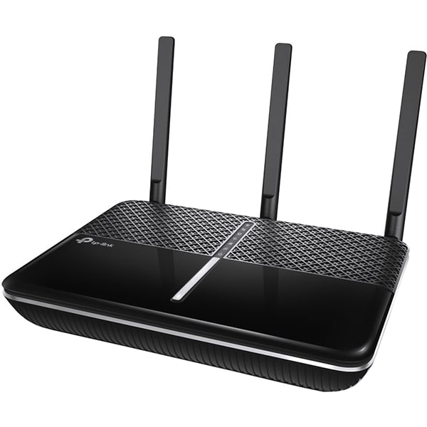 Router Wireless Gigabit AC2300 TP-LINK Archer C2300 V2, Dual Band 600 + 1733 Mbps, USB 3.0, negru