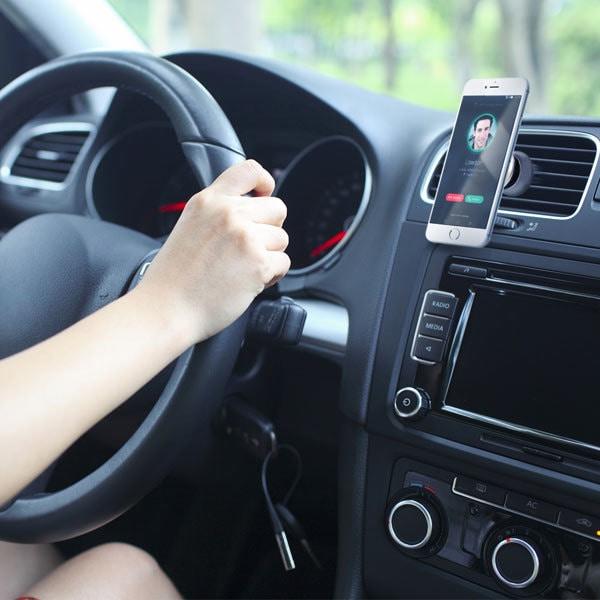 Suport auto universal PROMATE ventGrip, magnetic , ventilatie, rosu