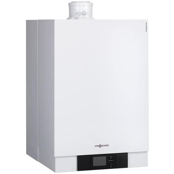 Pachet centrala termica pe gaz in condensare VIESSMANN Vitodens, 60 kW, kit inclus, alb + Boiler + Accesorii