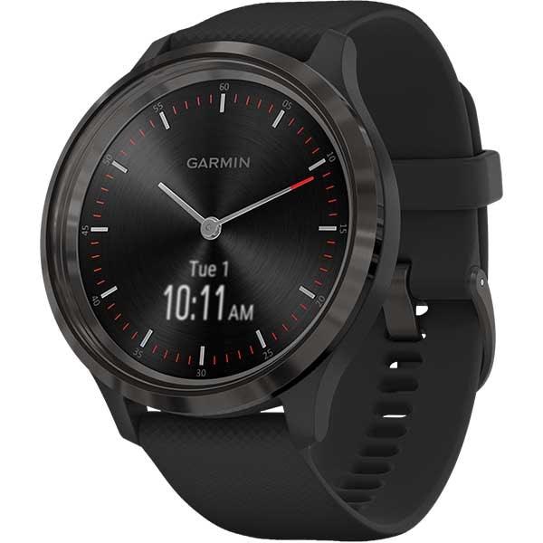 Smartwatch GARMIN Vivomove 3 44mm, Android/iOS, silicon, Black Gunmetal