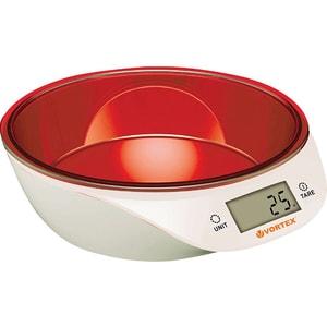 Cantar de bucatarie VORTEX VO4014RD, 5kg, rosu-alb