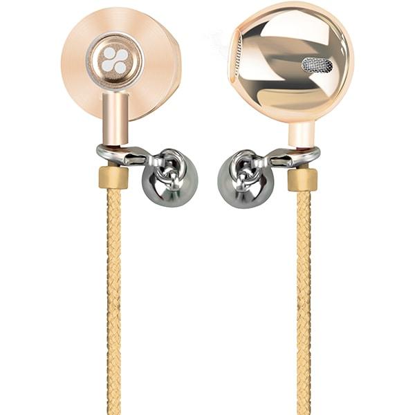 Casti PROMATE Vogue-2, tip bratara, Cu Fir, In-Ear, Microfon, auriu