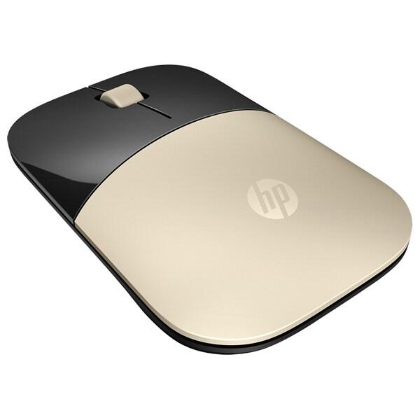 Mouse Wireless HP Z3700, 1200 dpi, negru-gold