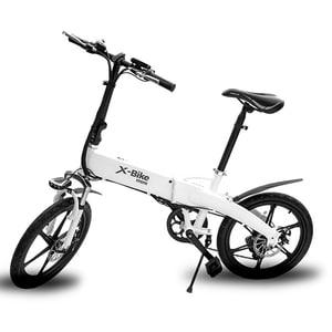 Bicicleta de oras Electrica EVOLIO X-BIKE Mini, Pliabila, 20 inch, alb