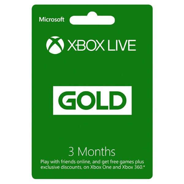 Card Xbox Live GOLD 3 luni Xbox 360 / Xbox One
